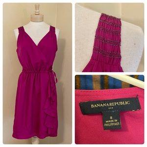 BANANA REPUBLIC Pink Purple Ruffle Dress 8 M